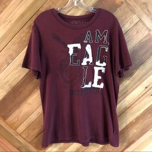 American Eagle Distressed Large Shirt